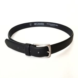 Columbia Mens Black Leather Belt Size 38